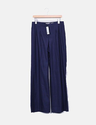 Pantalón azul marino palazzo