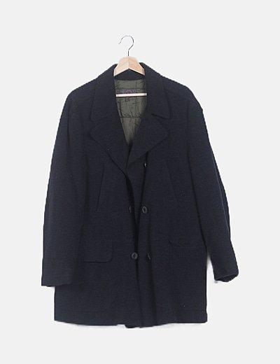 Abrigo de paño gris oscuro