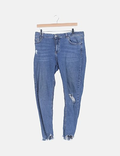 Jeans denim ripped azul