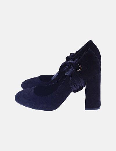 Zapato negro lace up