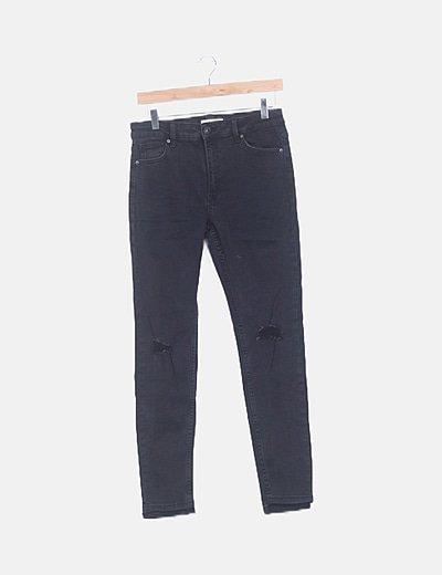 Jeans skinny negro ripped