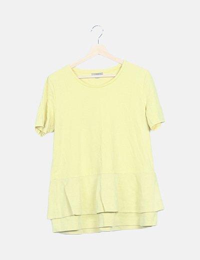Camiseta amarilla combinada