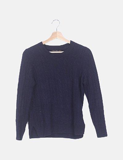 Jersey cashmere azul marino