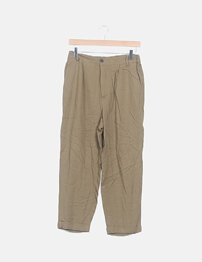 Pantalón baggy verde caqui