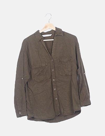 Camisa verde caqui