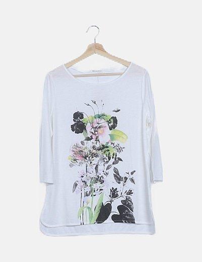 Camiseta blanca print combinado