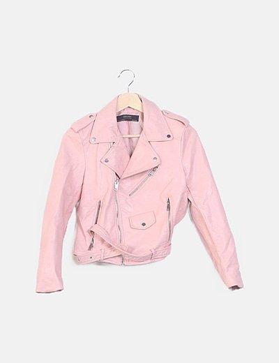 Biker polipiel rosa