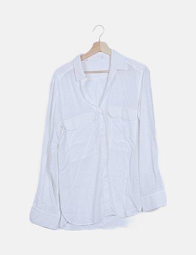 Camisa larga blanca fluida