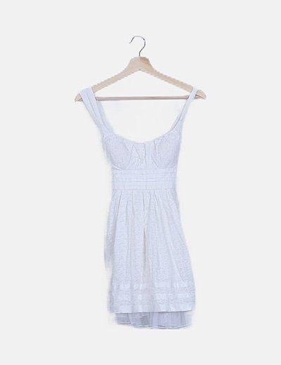 Vestido blanco crochet tirantes