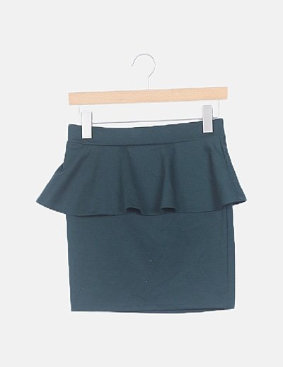 Falda peplum verde