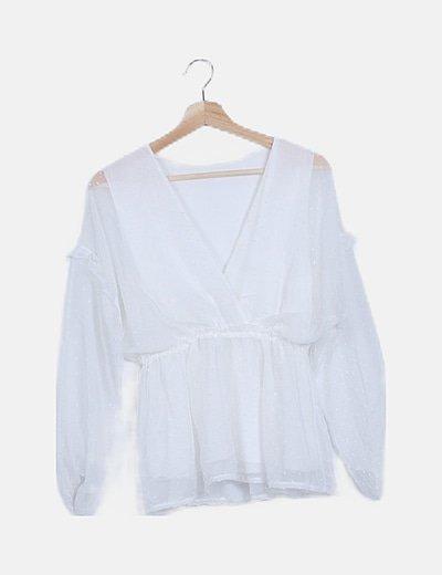 Blusa blanca plumeti