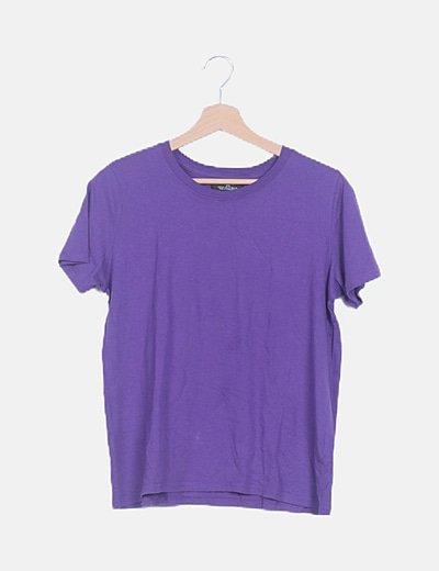 Camiseta morada manga corta