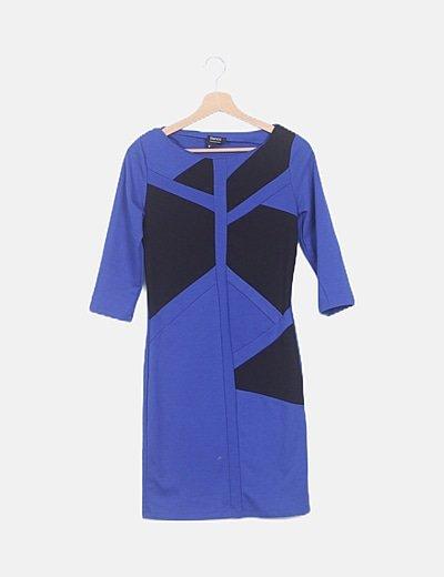 Vestido midi azul electrico
