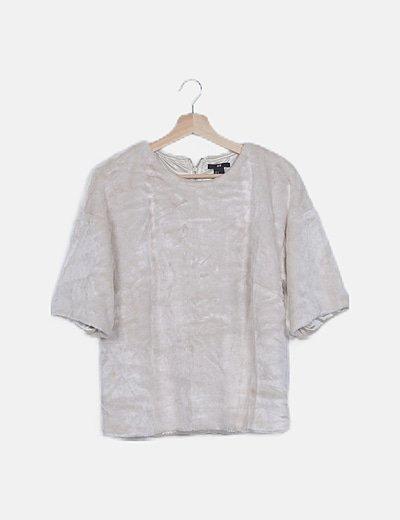 Blusa texturizada beige