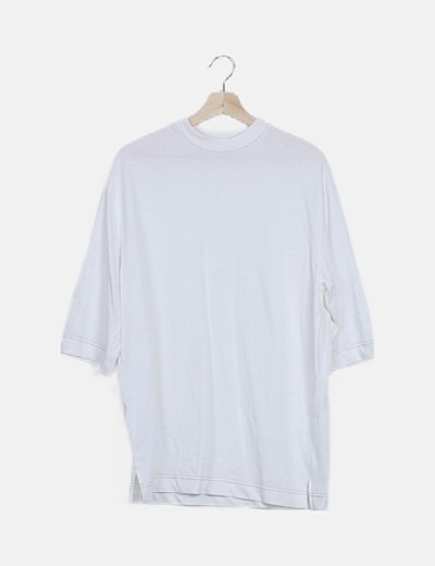 Camiseta blanca oversize manga corta