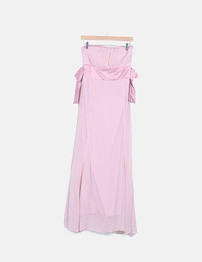 Vestido rosa palabra de honor