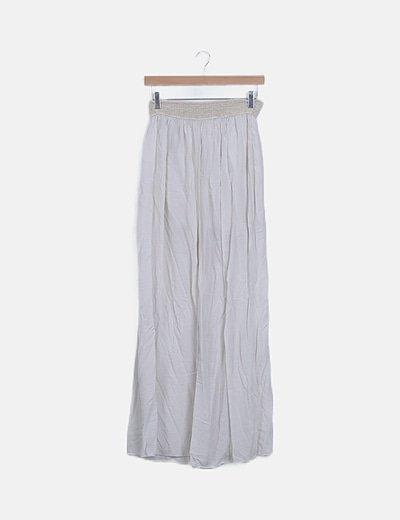 Falda maxi blanco envejecido