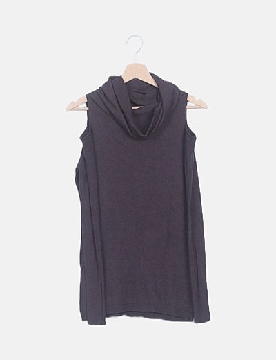 Jersey tricot morado con aberturas