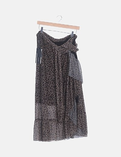 Falda pareo maxi animal print