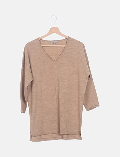 Suéter tricot marrón