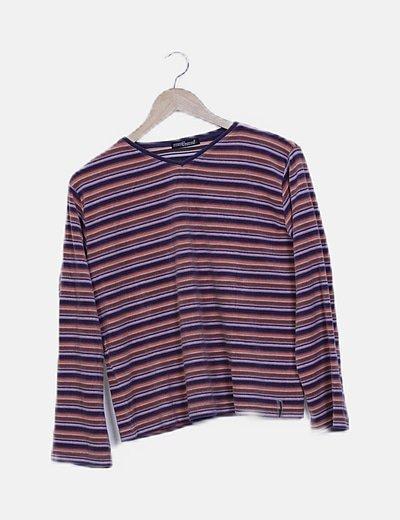 Camiseta de rayas multicolor