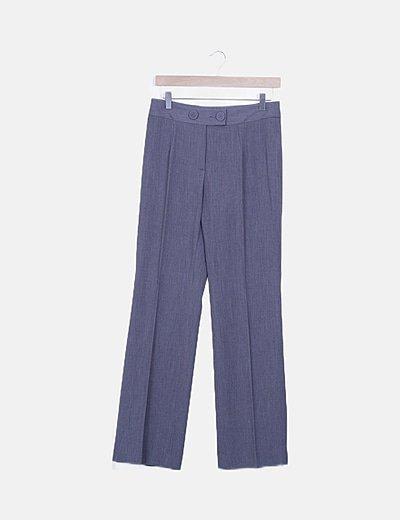 Pantalón pinzas gris detalle botones