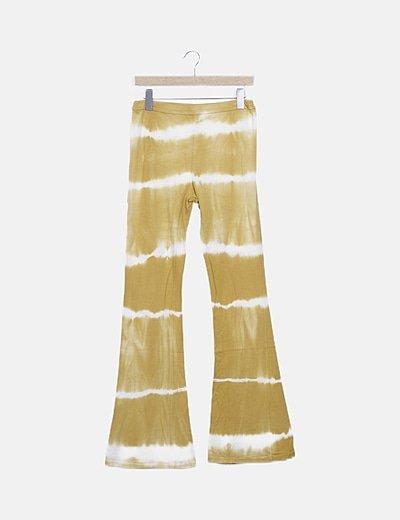 Pantalón de campana amarillo tie dye