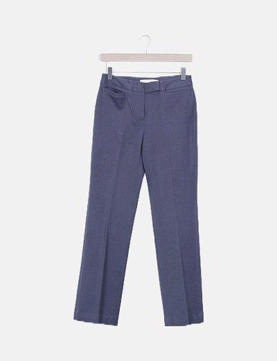 Pantalón pinzas gris marengo
