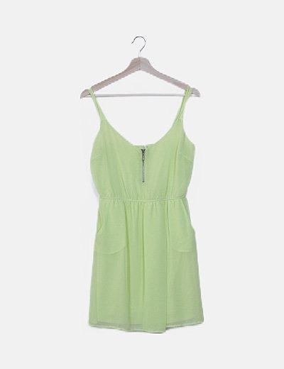 Vestido fluido verde fluor