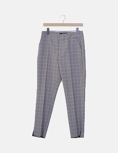Pantalón chino cuadro galés