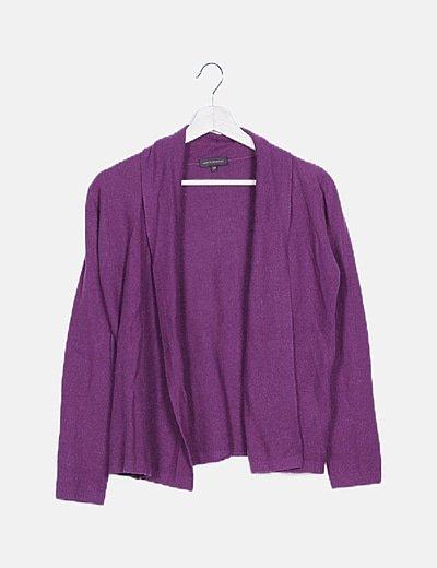 Chaqueta tricot magenta