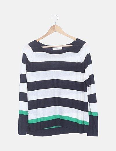 Jersey de rayas banda verde