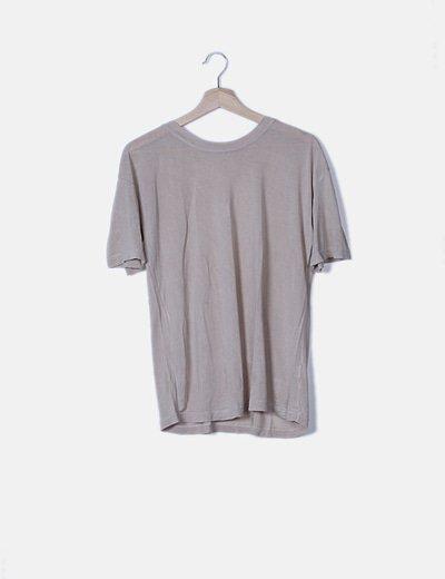 Camiseta beige de manga corta