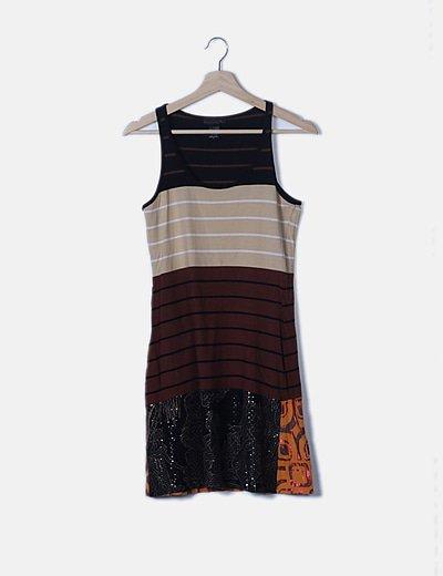 Vestido multicolor de rayas