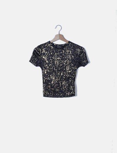 Camiseta elástica glitter