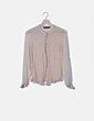 Camisa beige abotonada Zara