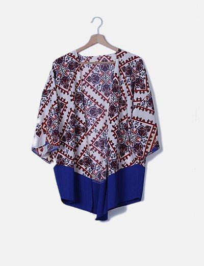 Kimono estampado étnico