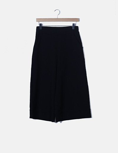 Pantalón negro palazzo