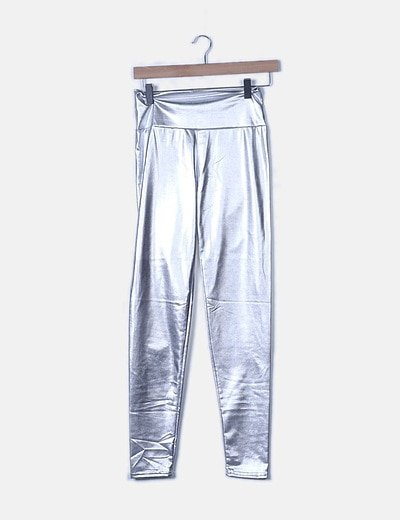 Legging plateados cintura elástica