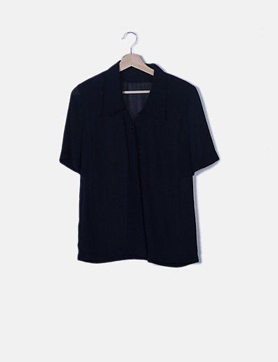 Blusa azul marino vaporosa