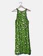 Vestido lentejuelas verde Marina