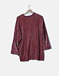 Jersey de punto terciopelo rosa Pull&Bear