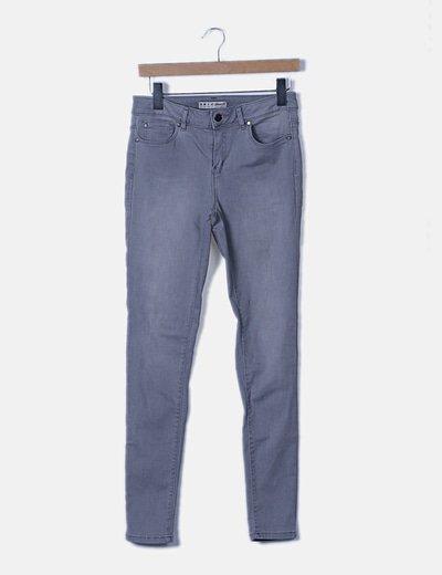 Pantalón denim gris