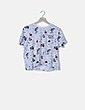 Camiseta manga corta estampada Polinesia