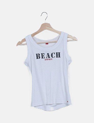 Camiseta blanca estampada letras
