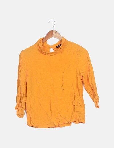 Blusa camisera fluida naranja