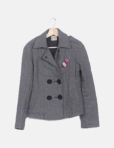 Abrigo bicolor texturizado