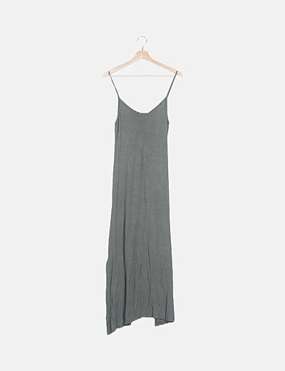 Vestido tirantes khaki