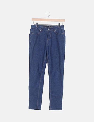 Pantalón pitillo denim azul