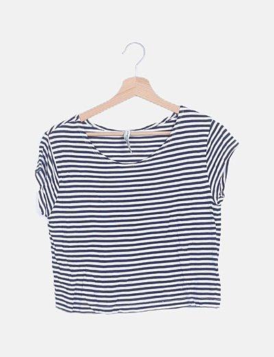 Camiseta bicolor de rayas